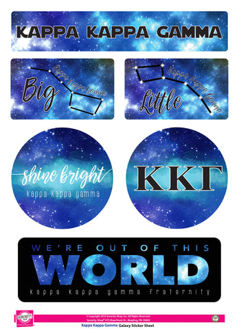 Kappa kappa Gamma <br> Galaxy Stickers