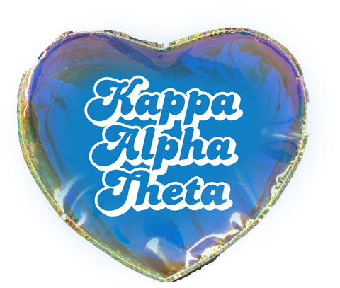 Kappa Alpha Theta Heart Shaped Makeup Bag