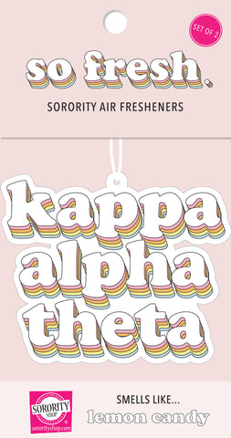 Kappa Alpha Theta Retro Air Freshener