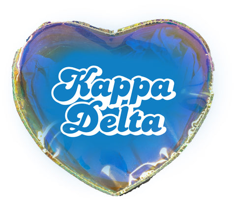 Kappa Delta Heart Shaped Makeup Bag