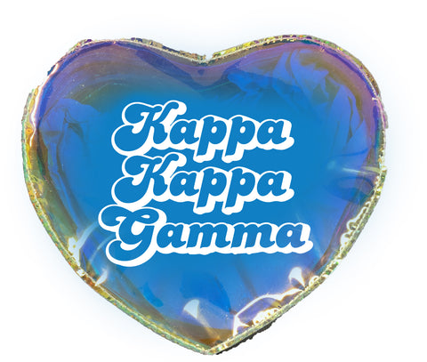 Kappa Kappa Gamma Heart Shaped Makeup Bag