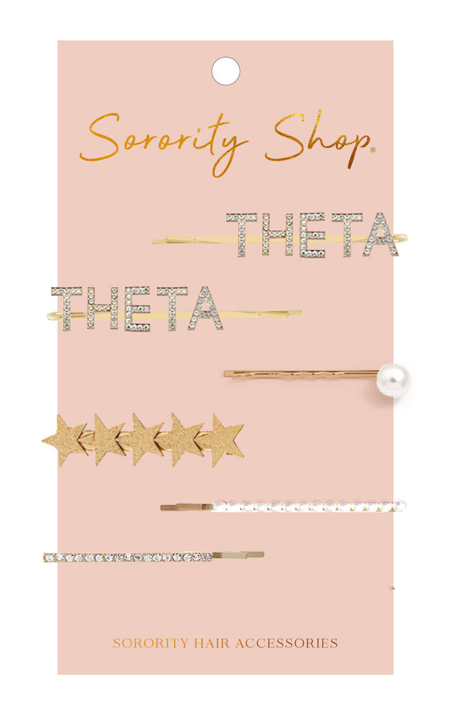 Kappa Alpha Theta Sorority Hair Clips