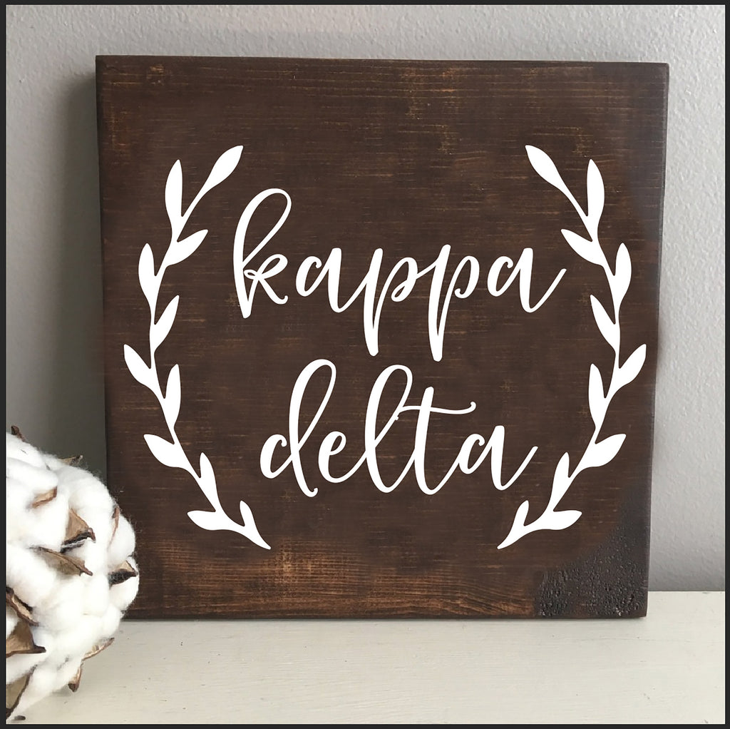 Kappa Delta Wooden Wall Art