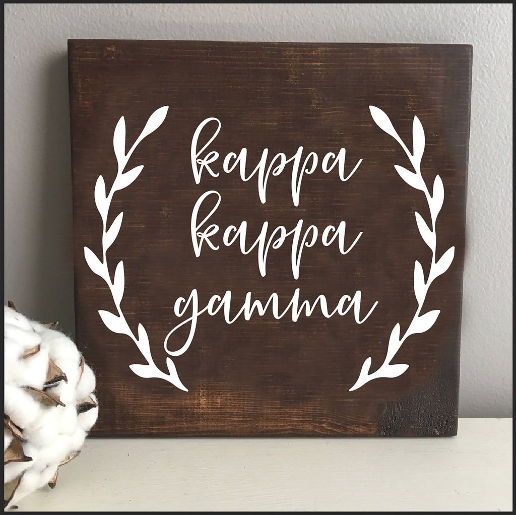 Kappa Kappa Gamma Wooden Wall Art