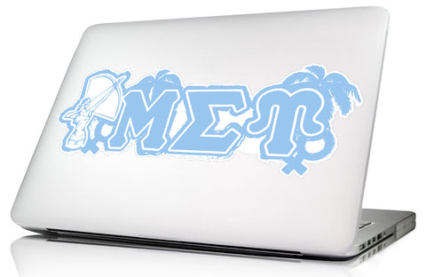 Mu Sigma Upsilon <br> 11.75 x 5 Laptop Skin/Wall Decal