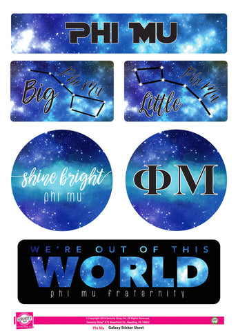 Phi Mu Galaxy Stickers