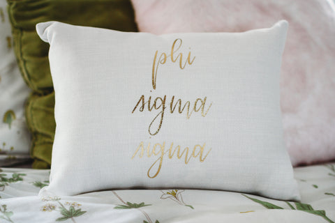 Phi Sigma Sigma Throw Pillow