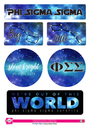 Phi Sigma Sigma Galaxy Stickers