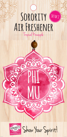 Phi Mu <br> Mandala Air Freshener <br> 2/Package
