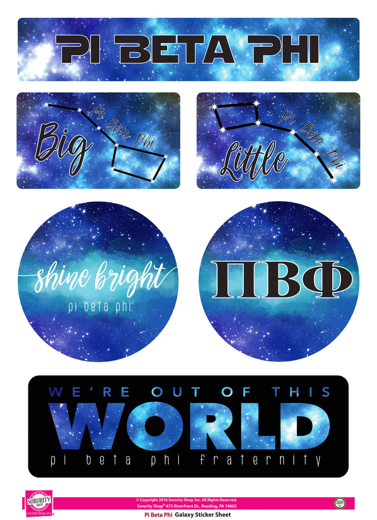 Pi Beta Phi <br> Galaxy Stickers