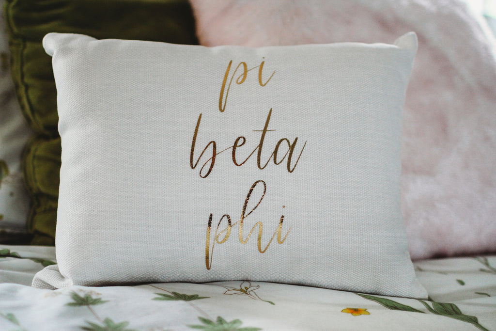 Pi Beta Phi Throw Pillow