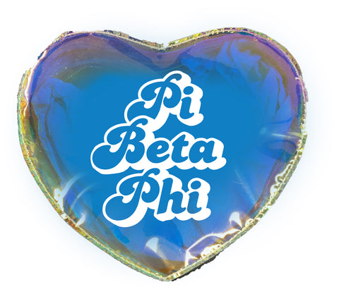 Pi Beta Phi Heart Shaped Makeup Bag