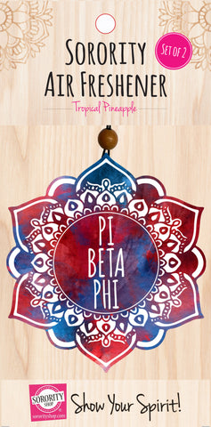 Pi Beta Phi <br> Mandala Air Freshener <br> 2/Package