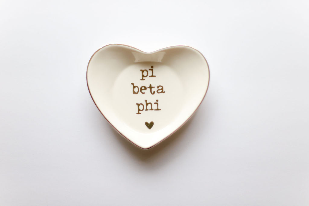 Pi Beta Phi Ceramic Ring Dish