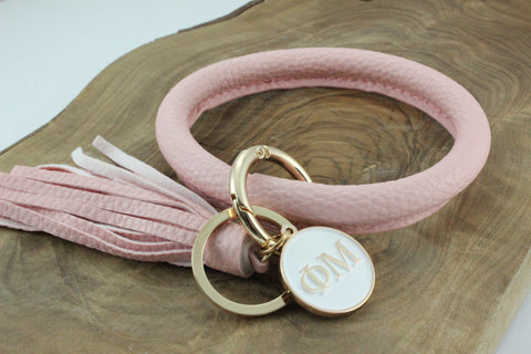 Phi Mu Bangle Sorority Keychain