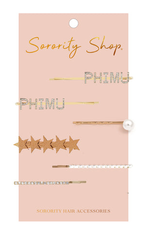 Phi Mu Sorority Hair Clips