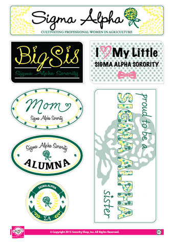 Sigma Alpha <br> Family Stickers