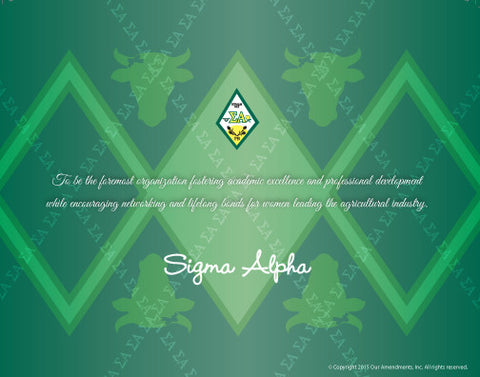 Sigma Alpha <br> Tribute Poster