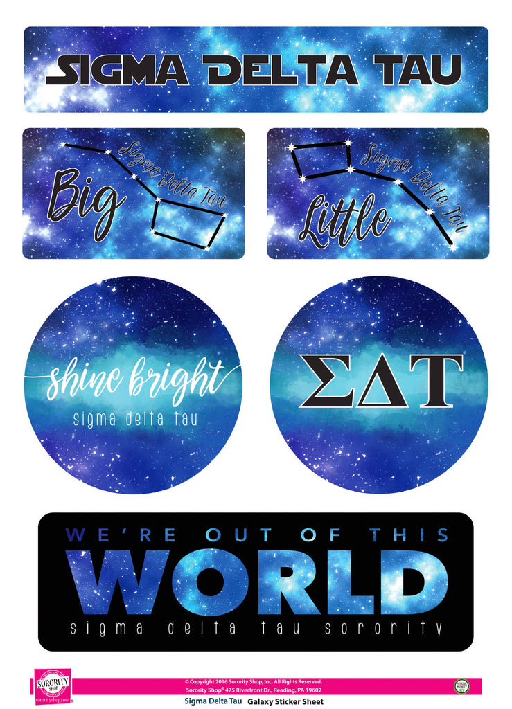 Sigma Delta Tau Galaxy Stickers