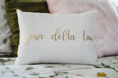 Sigma Delta Tau Throw Pillow