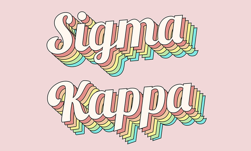 Sigma Kappa Retro Flag