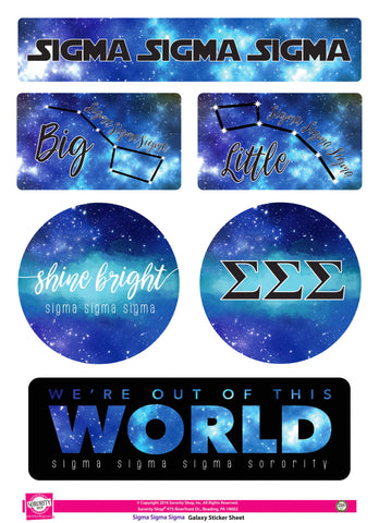Sigma Sigma Sigma Galaxy Stickers
