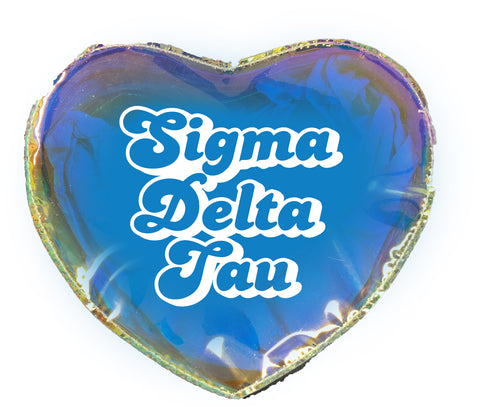 Sigma Delta Tau Heart Shaped Makeup Bag