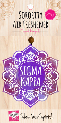 Sigma Kappa <br> Mandala Air Freshener <br> 2/Package