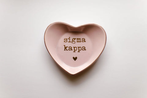 Sigma Kappa Ceramic Ring Dish
