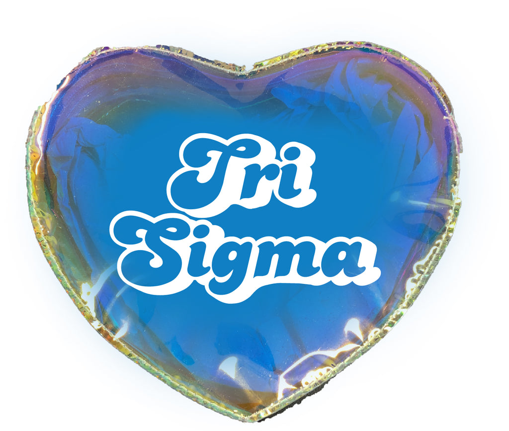 Sigma Sigma Sigma Heart Shaped Makeup Bag