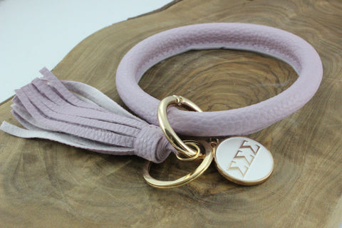 Sigma Sigma Sigma Bangle Sorority Keychain