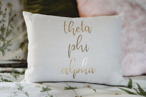 Theta Phi Alpha Throw Pillow
