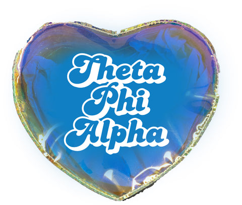 Theta Phi Alpha Heart Shaped Makeup Bag