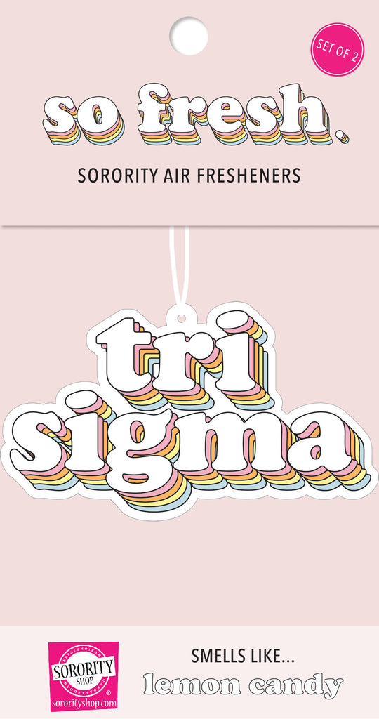 Tri Sigma Retro Air Freshener
