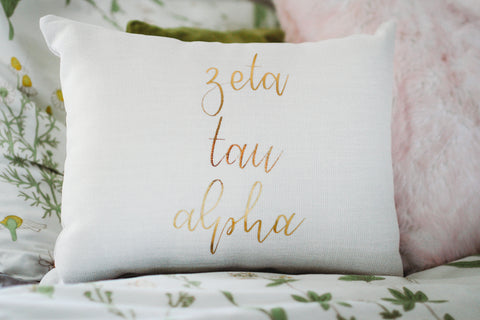 Zeta Tau Alpha Throw Pillow