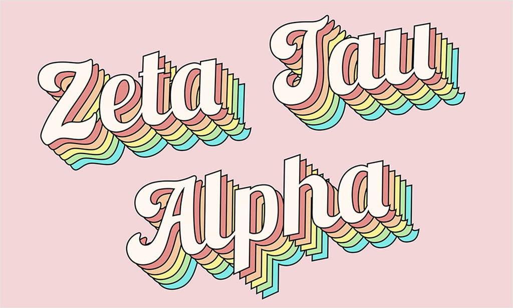 Zeta Tau Alpha retro flag