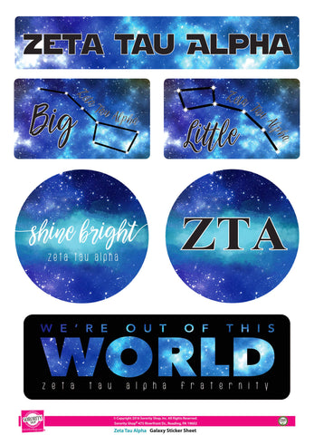 Zeta Tau Alpha Galaxy Stickers