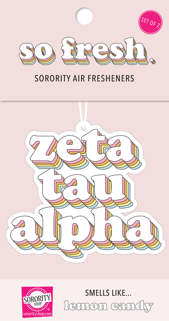Zeta Tau Alpha Retro Air Freshener