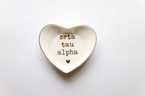 Zeta Tau Alpha Ceramic Ring Dish