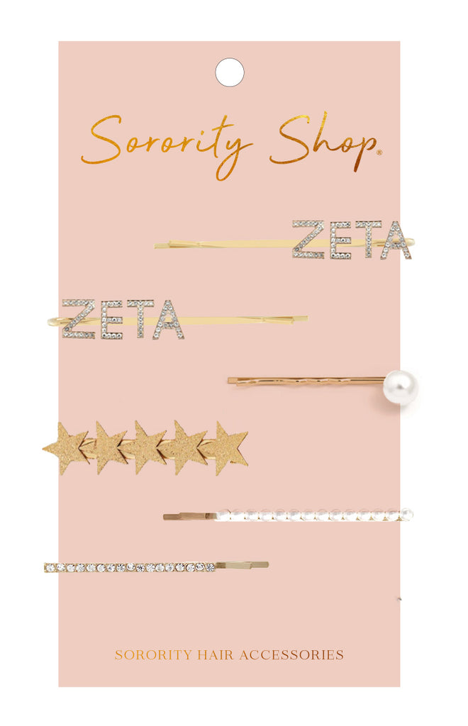 Zeta Tau Alpha Sorority Hair Clips