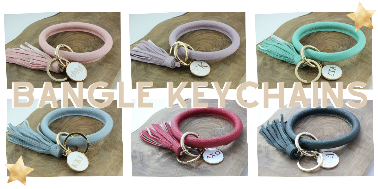 Sorority Bangle Keychains