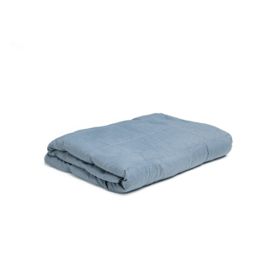 Blue Chambray Weighted Blanket