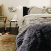 Faux Fur Cozy Throw + Duvet Weighting Comforts