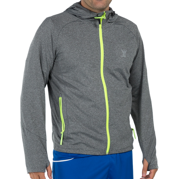 Performance Tech Hoodie - Jackets - XS / Gray/Neon - Kixsports - 1