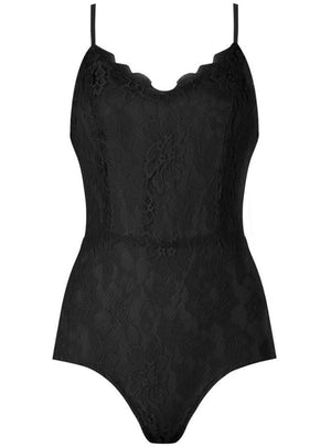 Alia Black Floral Lace Lined Intricate Bodysuit - Violet Fashion