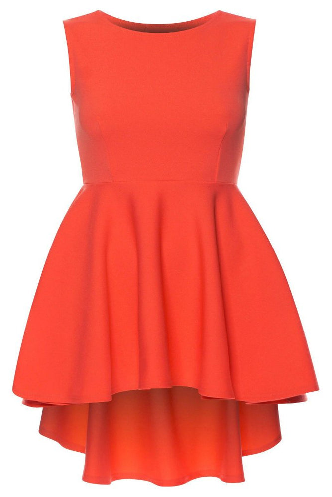 Linda Coral Asymmetric Skater Dress - Violet Fashion