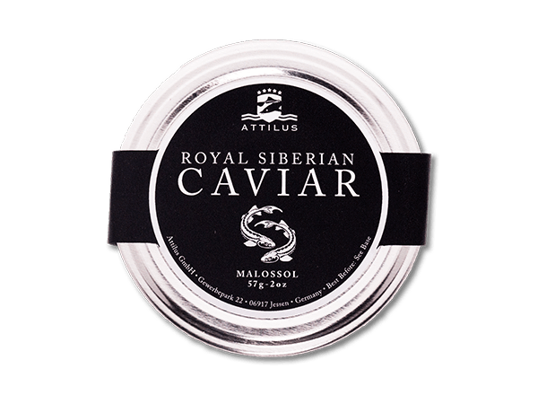 Royal Siberian Caviar glass jar