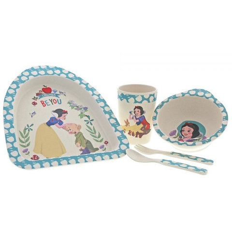 Snow White Organic Bamboo Dinner Set