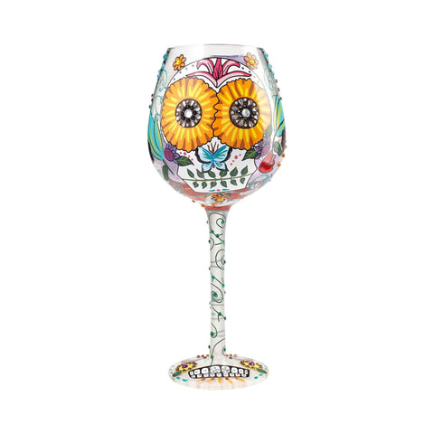 Sugar Skulls Super Bling Wine Glass