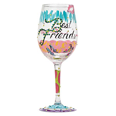 'Best Friends' Wine Glass